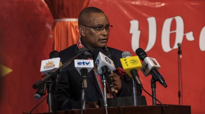 Debretsion Gebremichael, atual líder da Frente de Libertação do Povo Tigré (a TPLF), partido que controlou o país por décadas