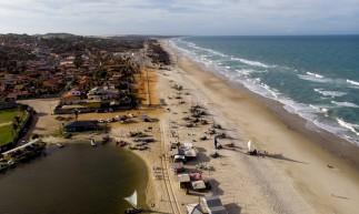 AQUIRAZ, CE, BRASIL, 07.12.2020: Vista aérea de empreendimento imobiliário no Porto das Dunas (Fco Fontenele/O POVO)