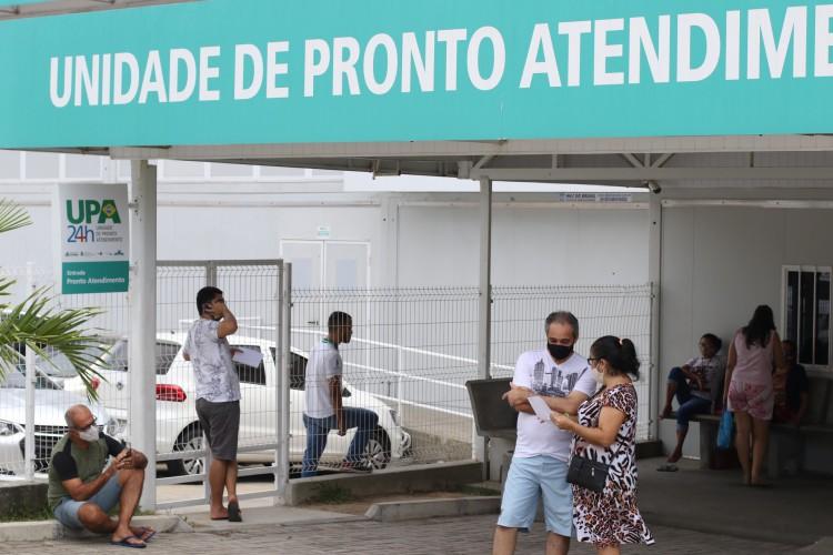 Upa no bairro Edson Queiroz, em Fortaleza (Foto:  Fabio Lima)