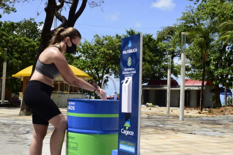 Cagece instalará 50 pias de uso compartilhado no Ceará. Trinta serão somente na Capital. (Foto: Reprodução/Cagece)