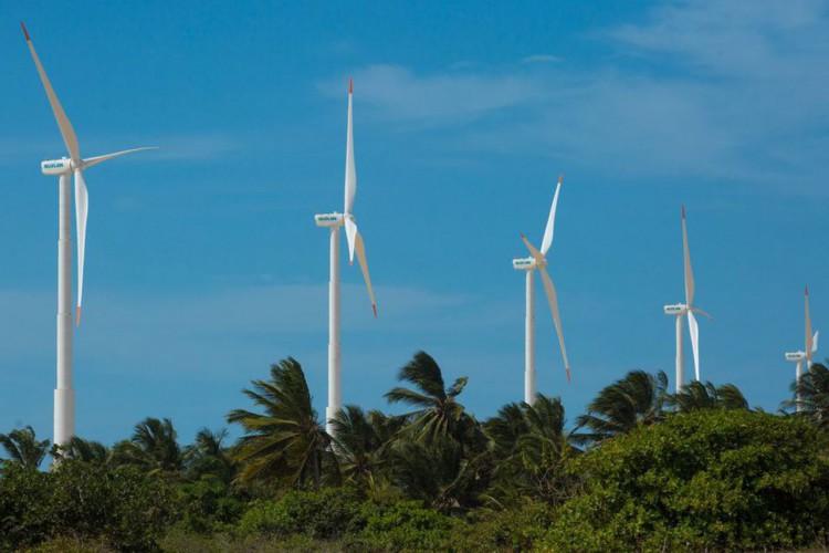 Usina de Energia Eólica (UEE) em Icaraí, no Ceará (CE) (Foto: Divulgação/Ari Versiani/PAC)