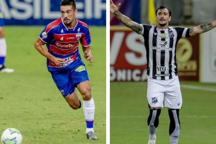 Juninho e Vina são destaques de Fortaleza e Ceará em passes decisivos na Série A (Foto: AURELIO ALVES/O POVO)