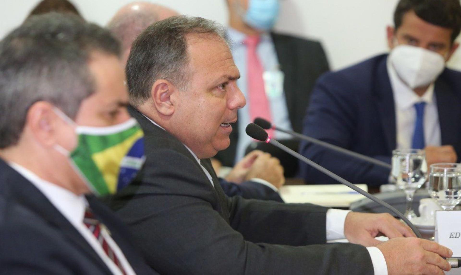 ministro da Saúde, Eduardo Pazuello, se reuniu com governadores de todo o país para fazer um balanço sobre o enfrentamento à Covid-19 no Brasil. (Foto: Ministério da Saúde)