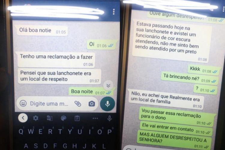 Cliente procurou atendimento por aplicativo de mensagens após ter feito refeição no local com a família.  (Foto: Reprodução/ Instagram)