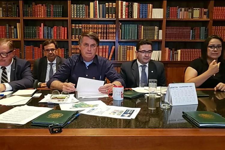 Live da semana Presidente Jair Bolsonaro, 10/12/2020 (Foto: Reprodução/Facebook/Jair Bolsonaro)