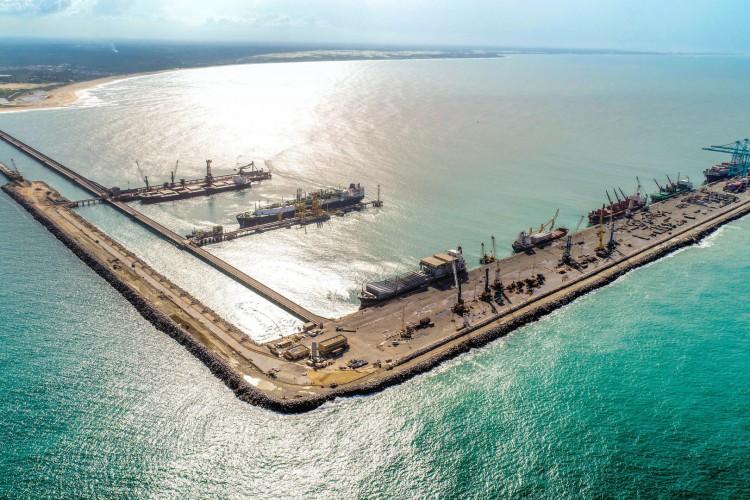 O hub de hidrogênio verde ficará localizado no Complexo do Pecém  (Foto: Complexo do Pecém / Divulgação)