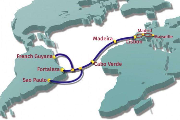 O cabo de fibra óptica submarino melhorará conectividade entre continentes (Foto: Ellalink/Divulgação)