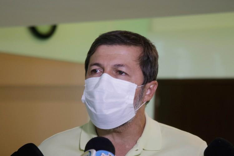 Elcio Batista, Vice-Prefeito Eleito, assintomático (Foto: Thais Mesquita/O POVO) (Foto: Thaís Mesquita)