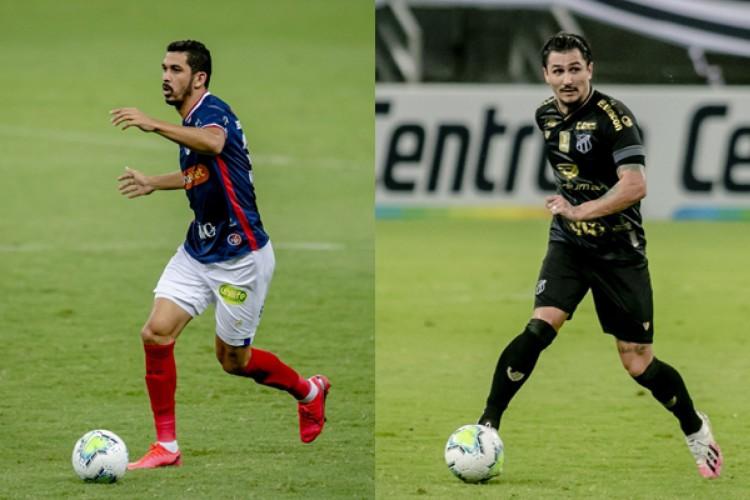 Bruno Melo e Vinícius Vina retornam para Fortaleza e Ceará, respectivamente, e devem disputar o Clássico-Rei (Foto: Aurélio Alves/ O POVO)