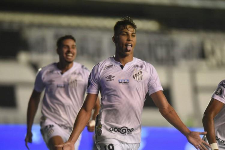 Libertadores: Santos vai à semi com benção de Pelé e gol relâmpago (Foto: )