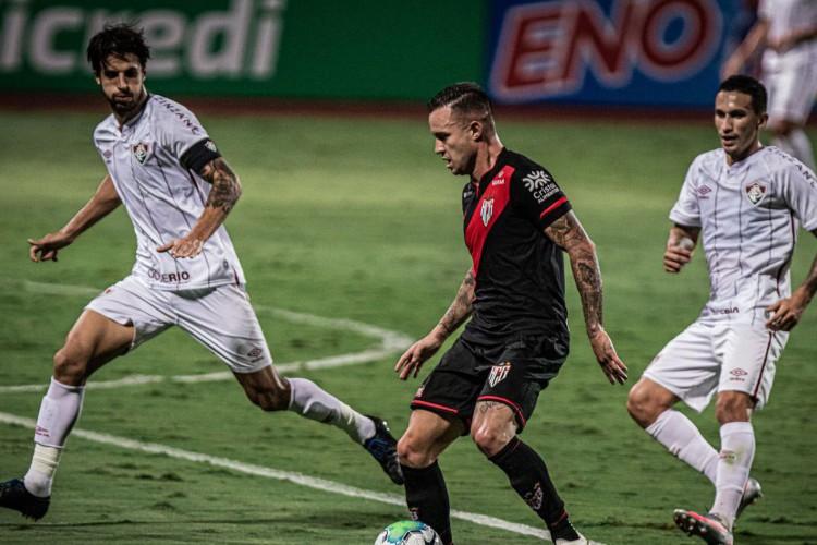 Atlético-GO e Fluminense medem forças nesta quarta-feira (Foto: )