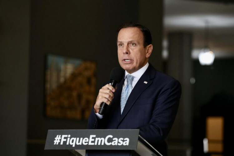 Governador anunciou medidas em coletiva (Foto: Governo de São Paulo / Divulgação)
