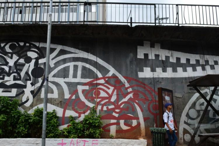 São Paulo - Grafites na Avenida 23 de Maio (Rovena Rosa/Agência Brasil) (Foto: Rovena Rosa/Agência Brasil)