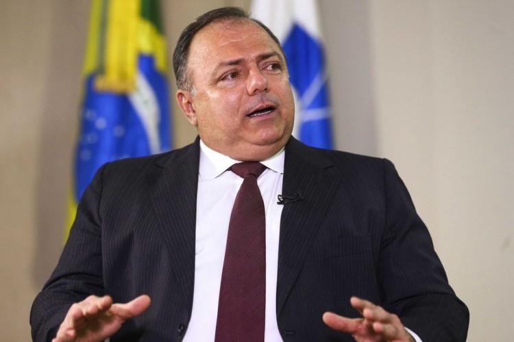 O ministro da Saúde, Eduardo Pazuello, durante entrevista ao programa Brasil em Pauta. (Foto: Marcelo Camargo/Agência Brasil)