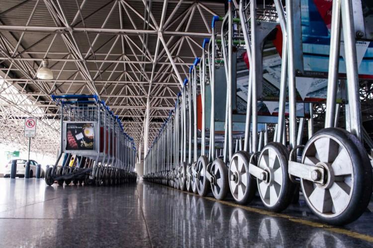 Aeroporto Internacional Juscelino Kubitschek, terceiro maior aeroporto do Brasil com pouca movimentação de passageiros (Foto: Marcello Casal JrAgência Brasil)