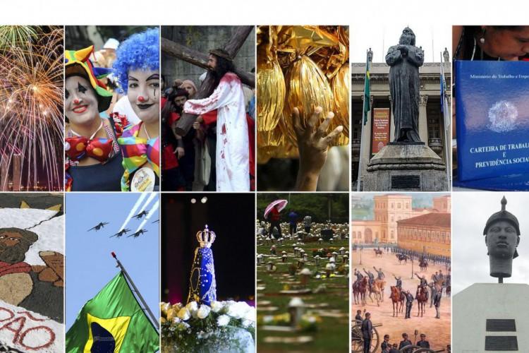 Mosaico Feriados 2021 (Foto: Agência Brasil)