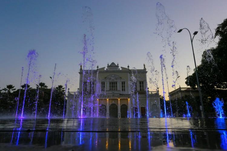 Revitalização da praça José de Alencar (Foto: Divulgação/Seinf)