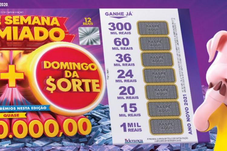 O primeiro sorteio da Tele Sena especial de Ano Novo 2021 foi realizado esta noite, domingo, 3 de janeiro (03/01), às 20 horas, pelo SBT (Foto: Divulgação/SBT)