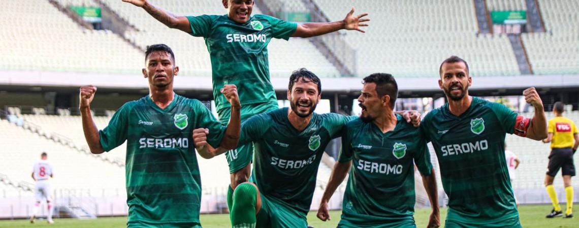 Floresta-CE venceu América-RN na Arena Castelão e ficou perto de subir à Série C (Foto: Ronaldo Oliveira / ASCOM Floresta EC)