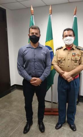 O anúncio do novo comandante do Corpo de Bombeiros foi pelo pelo titular da SSPDS, secretário Sandro Caron (Foto: Divulgação/SSPDS )