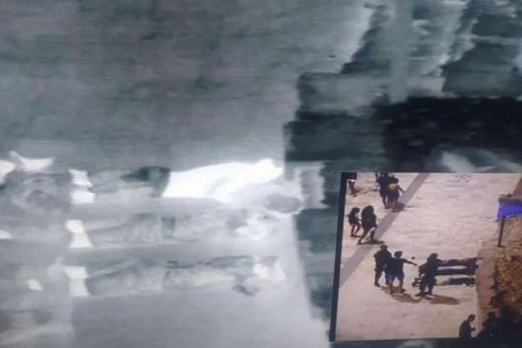 Ao visualizarem as imagens das câmeras da plataforma os policiais do CPChoque conseguiram localizar as três pessoas apontadas como autoras do crime   (Foto: Divulgação/SSPDS)