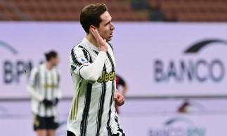 Federico Chiesa fez dois na vitória da Juventus por 3 a 1 sobre o Milan