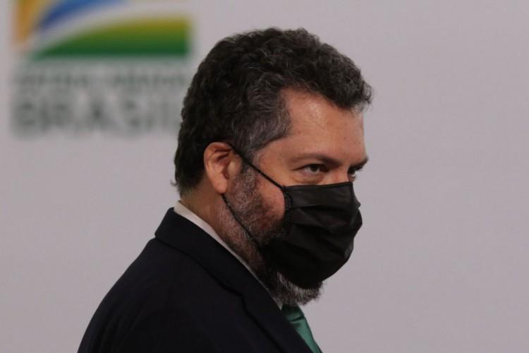 Ernesto Araújo, do MRE, comentou invasões em redes sociais. (Foto: Fabio Rodrigues Pozzebom/Agência Brasil)