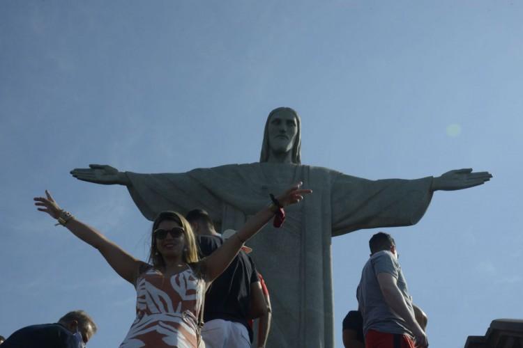 O Cristo Redentor volta a receber visitantes a partir deste sábado com novas regras  sanitárias (Foto: Tânia Rêgo/Agência Brasil)