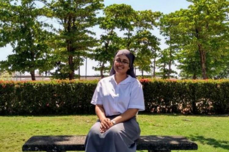 Irmã Isabele Maia conta da experiência diferente no mosteiro: combater um incêndio (Foto: ARQUIVO PESSOAL)