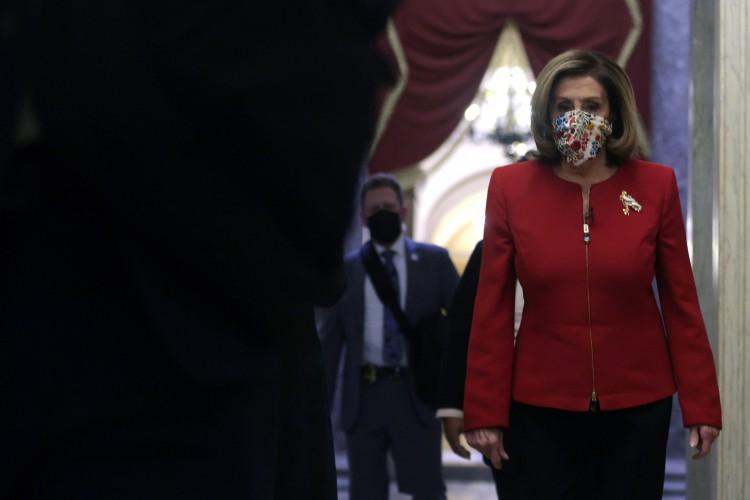 NANCY Pelosi pretende seguir adiante com processo de impeachment de Trump (Foto: ALEX WONG / AFP)