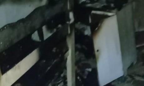 A família estava em uma festa de aniversário e soube do incêndio por meio de vizinhos, que contiveram as chamas.