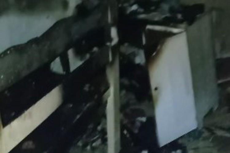 A família estava em uma festa de aniversário e soube do incêndio por meio de vizinhos, que contiveram as chamas. (Foto: Arquivo pessoal)