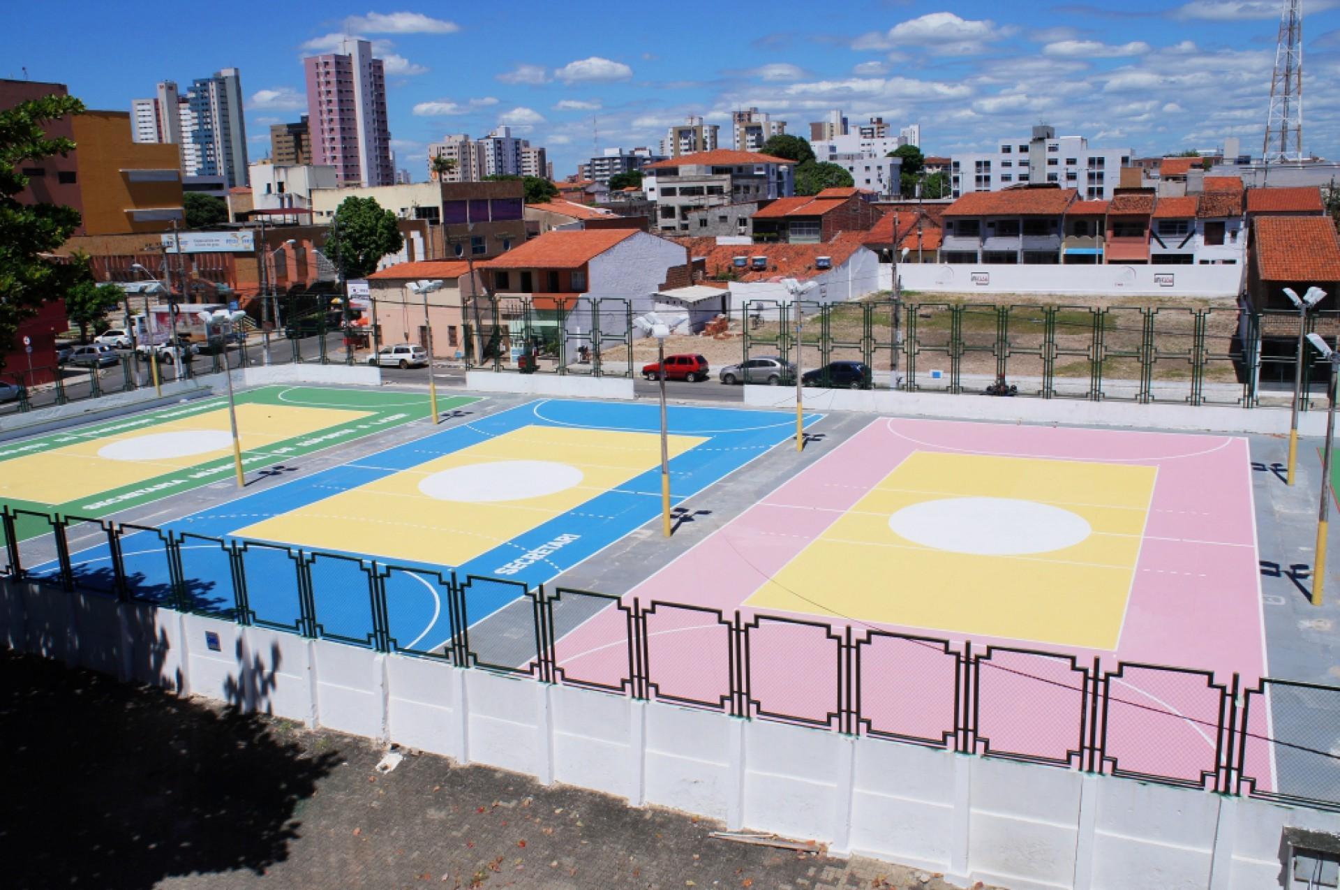 Quadras externas do Ginásio Paulo Sarasate vão ganhar cobertura