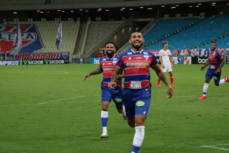 Felipe marcou o gol da vitória do Fortaleza sobre o Internacional, por 1 a 0 (Foto: Bruno Oliveira/Fortaleza)