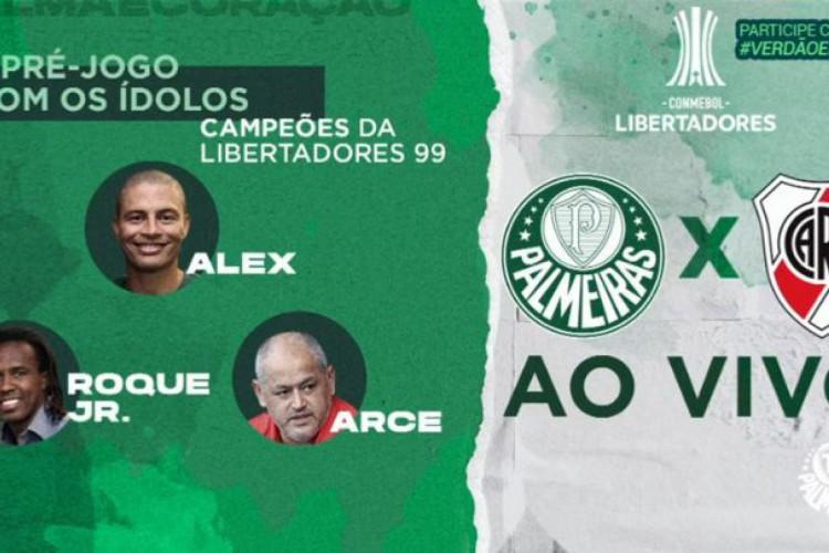 Youtube TV Palmeiras fará hoje a transmissão ao vivo, sem imagens, do jogo de volta do time paulista contra o River Plate, pela Libertadores (Foto: Reprodução/ Youtube TV Palmeiras)
