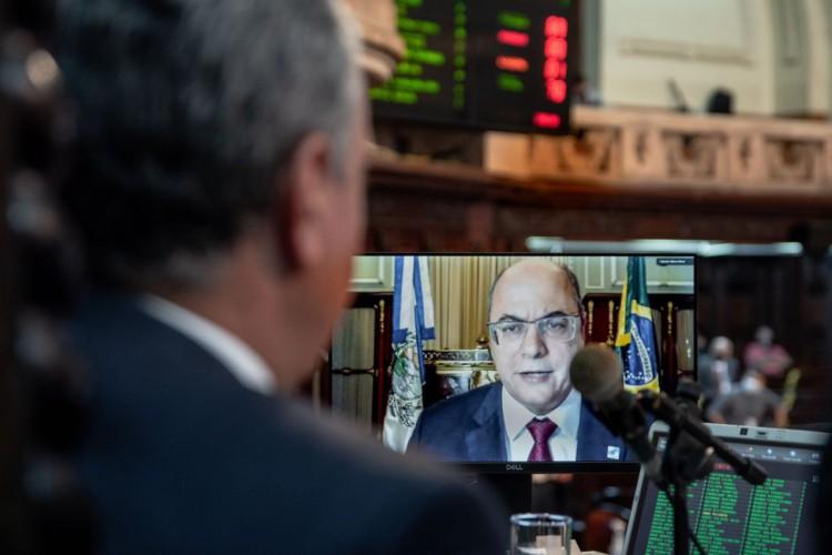 plenário da Alerj; impeachment do Governador Wilson Witzel (Foto: Priscila Rabello/Alerj)