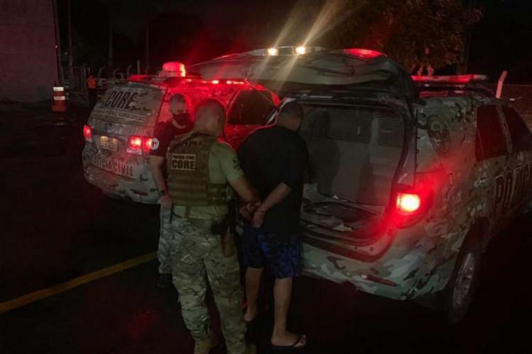 O acusado permanecerá preso em solo cearense até ser recambiado para a Bahia (Foto: Divulgação/SSPDS)