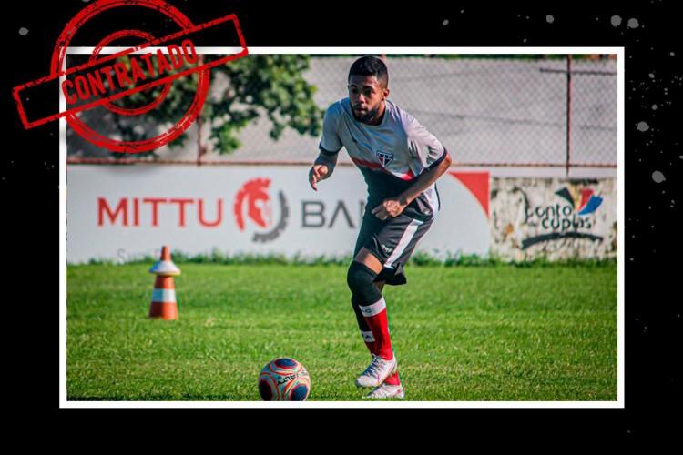 Caíque Basílio disputou o Brasileiro de Aspirantes pelo CRB  (Foto: Divulgação/Ferroviário )