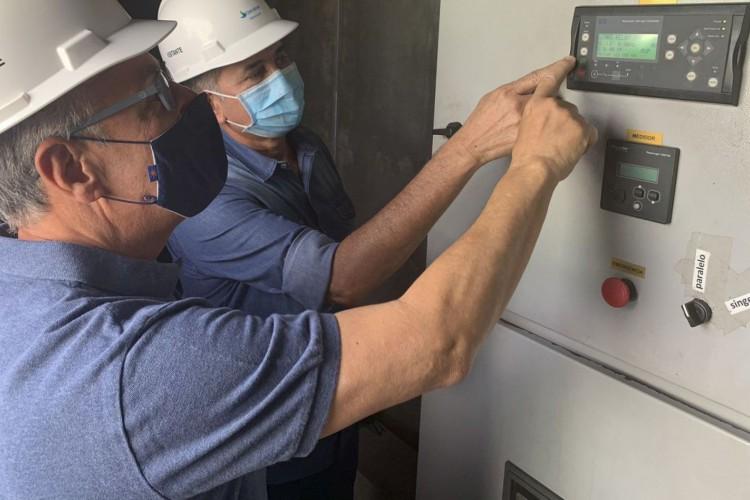 o Ministro de Minas e Energia, Bento Albuquerque, realiza visita técnica à subestação Santa Rita e às instalações construídas pela Oliveira Energia para fornecimento de mais 20MW ao Amapá (Foto: Ministério de Minas e Energia)