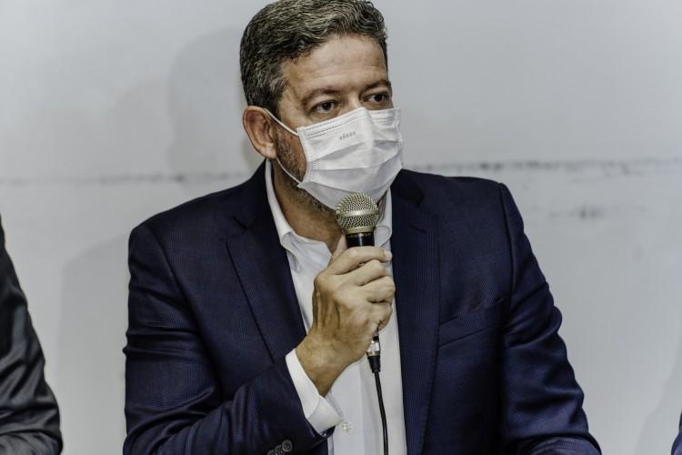 Arthur Lira (PP) esteve em Fortaleza para conversar com a bancada de deputados nesta quinta-feira, 14. (Foto: Júlio Caesar / O Povo) (Foto: JÚLIO CAESAR)