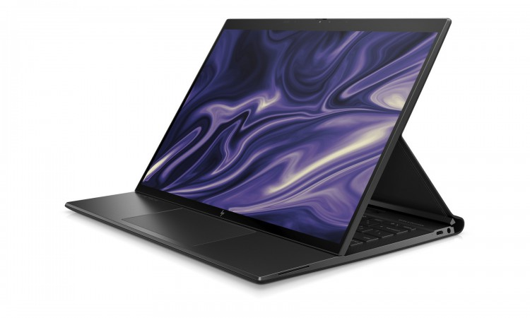 """HP Elite Folio é um misto de notebook e tablet em que o teclado pode ser """"escondido"""" sob a tela sensível ao toque"""