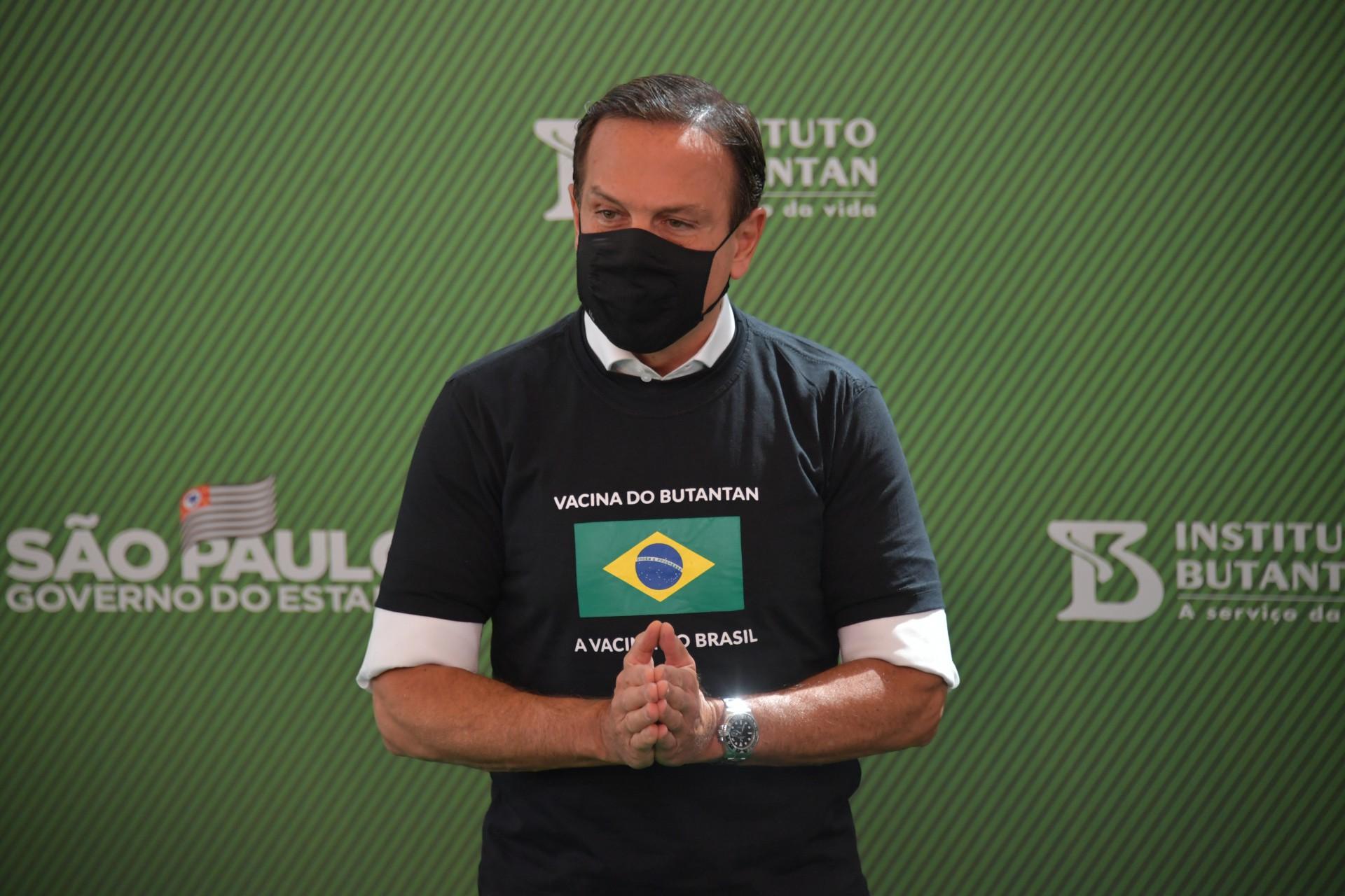Governador de São Paulo, João Doria afirmou que o Estado não será sede da Copa América. (Foto: NELSON ALMEIDA / AFP)
