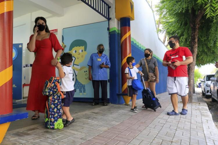 As aulas presenciais nas escolas particulares e públicas estão voltando em 2021. (foto: Barbara Moira/ O POVO) (Foto: Barbara Moira)