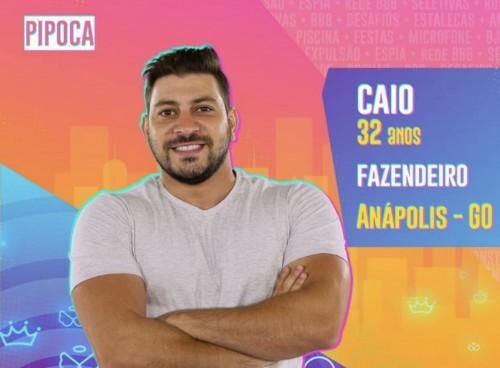 Caio é fazendeiro de Anápolis, Goiás. Ele faz parte do time Pipoca do BBB21