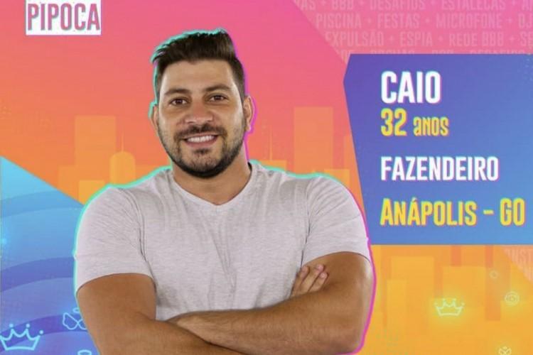 Caio é fazendeiro de Anápolis, Goiás. Ele faz parte do time Pipoca do BBB21 (Foto: Reprodução/Instagram)