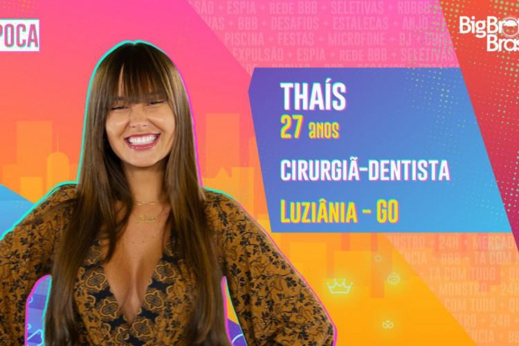 Thaís é participante do BBB21, do grupo Pipoca (Foto: Divulgação/ Globo)