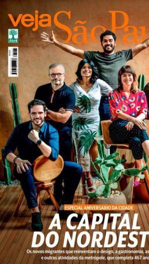 Capa da revista Veja São Paulo gerou reação das prefeituras das capitais do Nordeste no Twitter (Foto: Reprodução)
