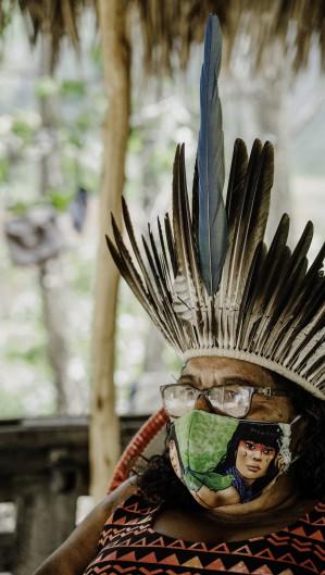 FORTALEZA, CE, BRASIL, 22-01-2021: Cacique Madalena Pitaguary. Impacto da COVID-19 na população indígena do Ceará. (Foto:Júlio Caesar / O Povo)