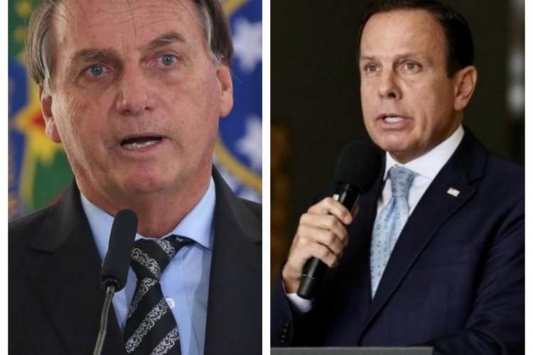 O presidente Jair Bolsonaro proibiu ministros de atender a qualquer pedido do governador de São Paulo, João Doria (PSDB), seu adversário político. (Foto: Fotos: Agência Brasil)