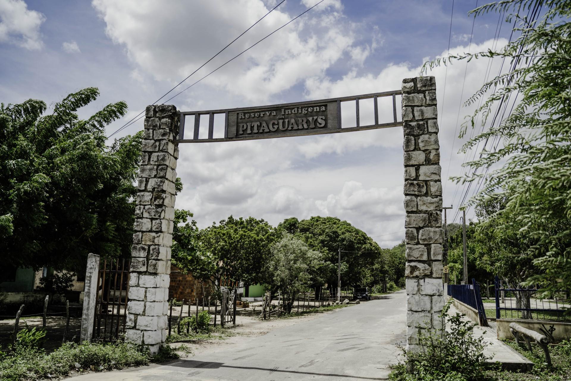 Reserva indígena dos Pitaguarys, em Maracanaú: população indígena está isolada para conter avanço da Covid-19